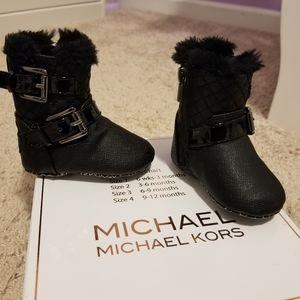 Baby Girl Michael Kors Black Fur Boots